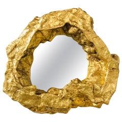 Large Modern Gold Leaf Wall Mirror