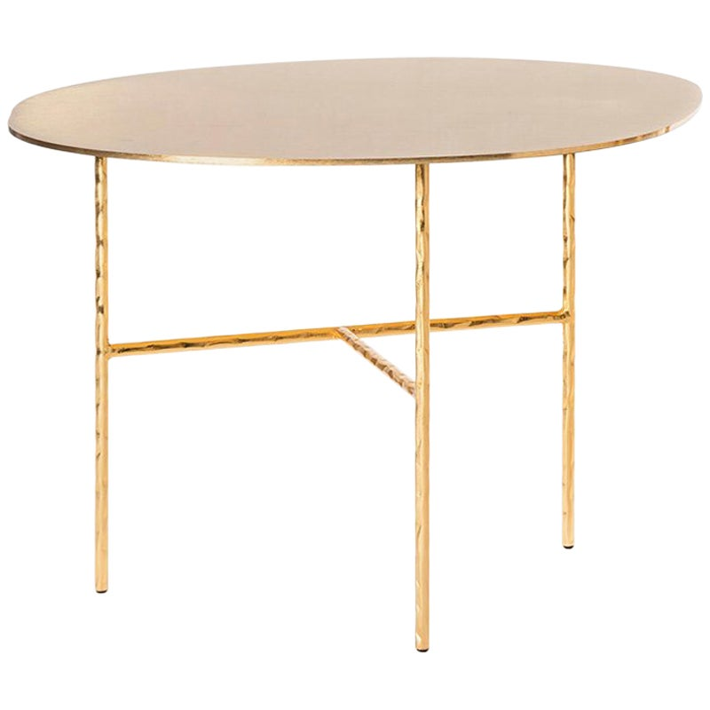 Quadruple Round Coffee Table in Gold or Nickel Finish