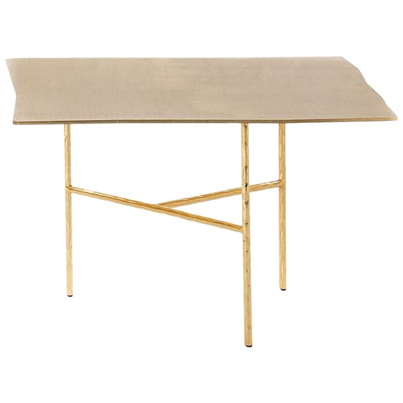Quadruple Square Coffee Table in Gold or Nickel Finish