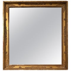 French Empire Style Gilt Mirror, 19th Century Bois Doré