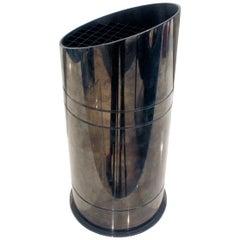 """Karl Springer """"Bullet"""" Up Light in Gunmetal, 1970s"""