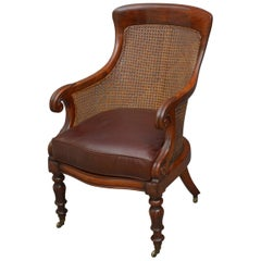 Exceptional William IV Bergère Chair in Mahogany