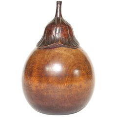 Aubergine Form Wooden Tea Caddy
