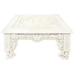 White Moroccan Coffee Table