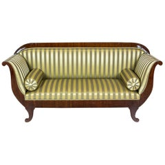 Renovated Biedermeier Sofa Veneered with Mahogany, circa 1860