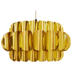 Brass Pendant Lamp Attributed to Hans-Agne Jakobsson