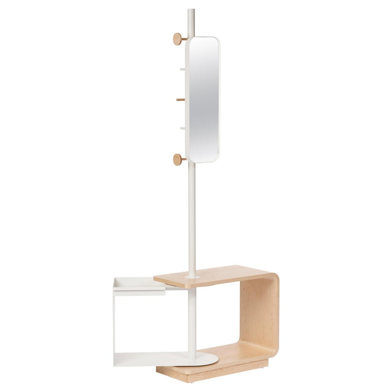 Garcia Multi-Functional Coat Rack and Side Table with Storage For Sale