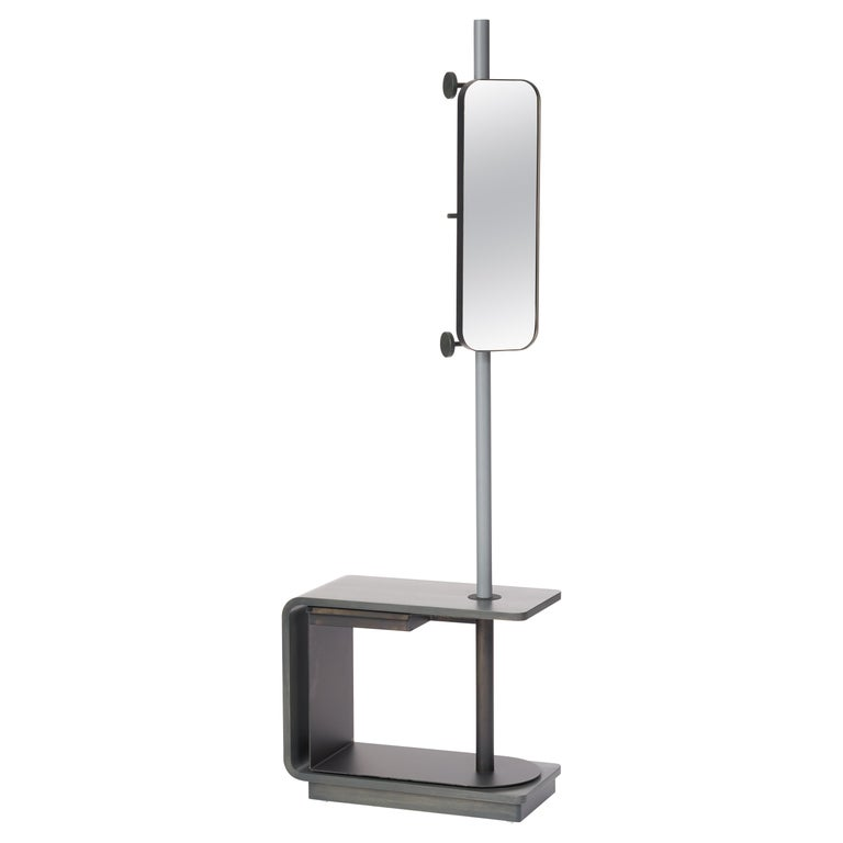 Garcia Multi-Functional Coat Rack and Side Table with Storage