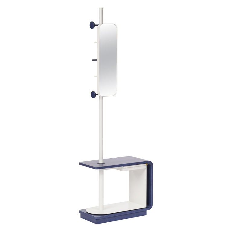 Garcia Multi Functional Coat Rack and Side Table with Storage