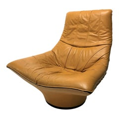 Vintage Leather Lounge Chair by Gerard Van Den Berg, 1970s
