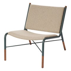 49N Lounge Chair, Melton Wool and Eco-Friendly Powder Coated Steel Frame