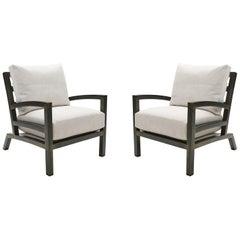 Pair of Grm Bespoke, Handmade Custom Steel Urban Lounge Chair for Studio 6F
