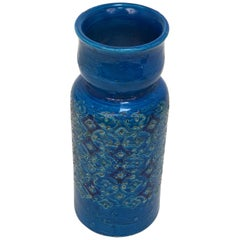 Vase Aldo Londi, Bitossi Ceramics, Rimini Blue, Italy, 1960s