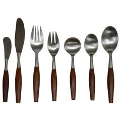 Fjord Flatware by Jens Quistgaard Service for 12, 84 Piece