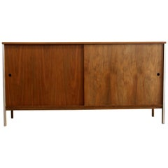 Paul McCobb for Calvin Mid-Century Modern Walnut Credenza