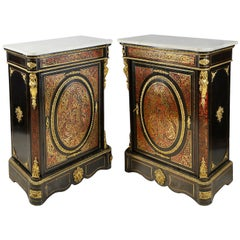 Pair of 19th Century Boulle Pier cabinets
