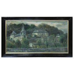 Antique Framed Oil Painting on Canvas by Christoffel Hendrik Dijkman