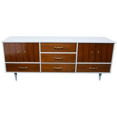 Mid-Century Modern Server in Walnut and Lacquer