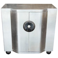 Deco Style Silver Leaf Cabinet