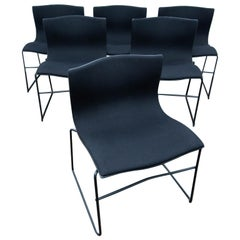 Set of 6 Knoll Dining Chairs by Massimo Vignelli