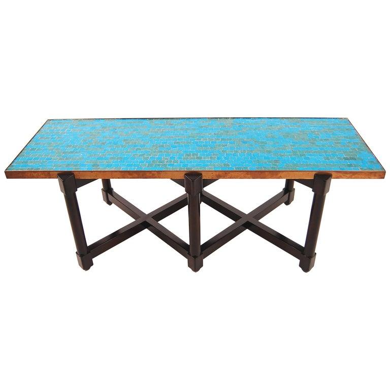 Edward Wormley Murano Glass Top Coffee Table