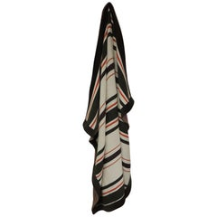 Large Brown and Orange Stripes Allessandra Branca Throw