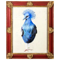 """Original Pastel """"Blue Crested Pigeon"""" Signed and Dated 2018"""
