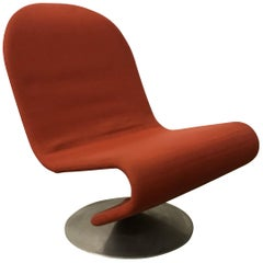 1973, Verner Panton, 1-2-3 Serie Easy Chair in Original First Fabric