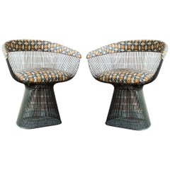 Pair of Bronze Accent Chairs by Warren Platner for Knoll