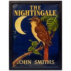 "English Pub Sign, ""The Nightingale"""