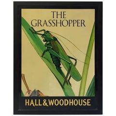 "English Pub Sign, ""The Grasshopper"""