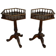 Pair of Georgian Style Mahogany Wine Tables
