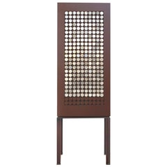 Contemporary Geometrical Crystal Enlayed Cabinet