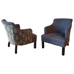 Classic Baker Style Club Chairs, Pair