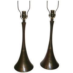 Moderne Patinated Bronze Lamps