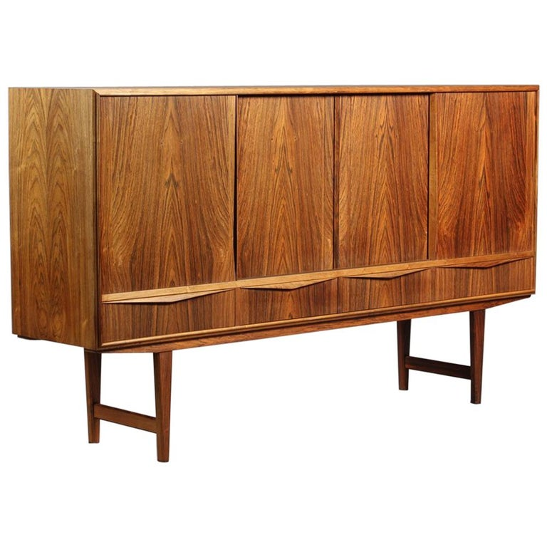 High Rosewood Sideboard by EW Bach for Sejling Skabe For Sale
