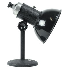 1950s Industrial Black Metal Table Lamp