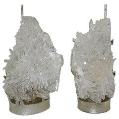 Pair of Quartz Crystal Lamps