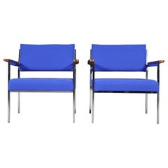 Mid-Century Modern Steelcase Office Lounge Chairs, 1970s