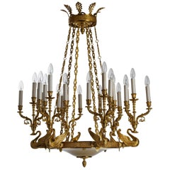 French Empire Style Gilt Bronze Chandelier