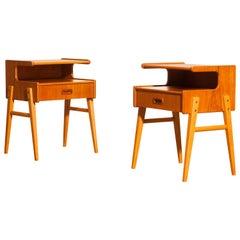 1960s Teak Pair of 'Model C' Bedside Tables