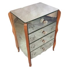 French 20th Century Mirror Chest of Drawer, 1950s