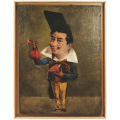 Armand Désiré Gautier, Caricature Oil on Canvas, Late 19th Century