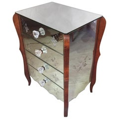 French 20th Century Mirror Chest of Drawers, 1950s