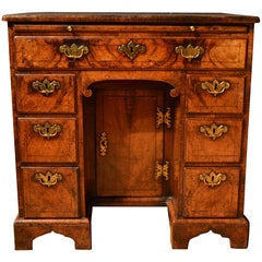 18th Century Veneered Walnut Kneehole Desk