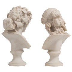 Modern Pair of Classical Marble Busts