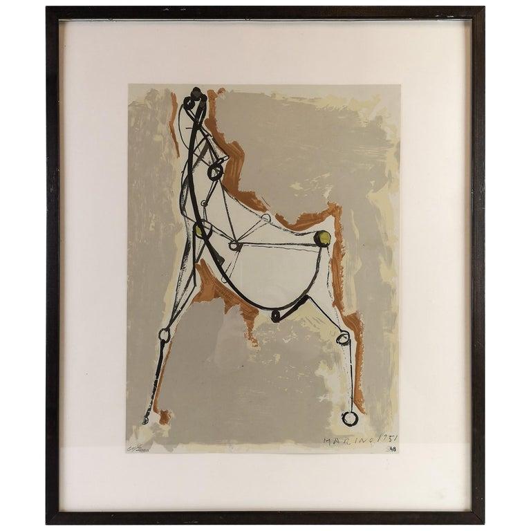 Marino Marini Lithograph For Sale