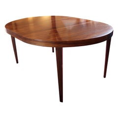 Large Dining Table of Rosewood by Severin Hansen for Haslev, 1960s