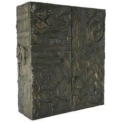 Bronzed Resin Paul Evans designed Wall Hung Cabinet, 1970