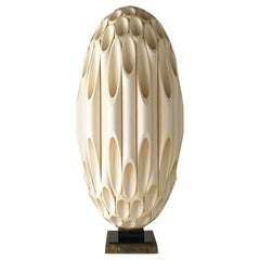 Single Ovoid Rougier Designed Table Lamp, Late 1970s